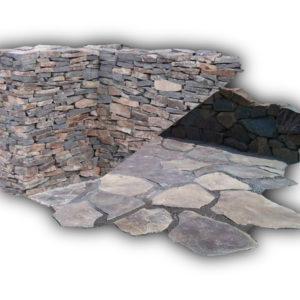 Nášlapy - zídky kamenné