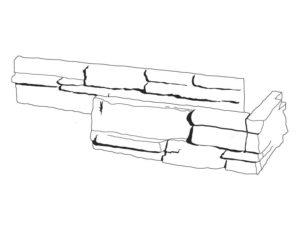 Umělý kámen - cihla pásky