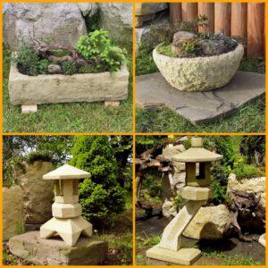 Květináče/Japonské lampy - Imitace kamene