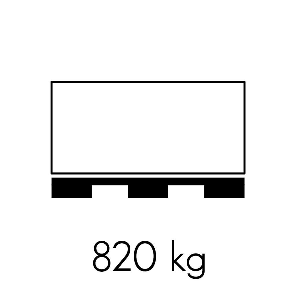 820 kg