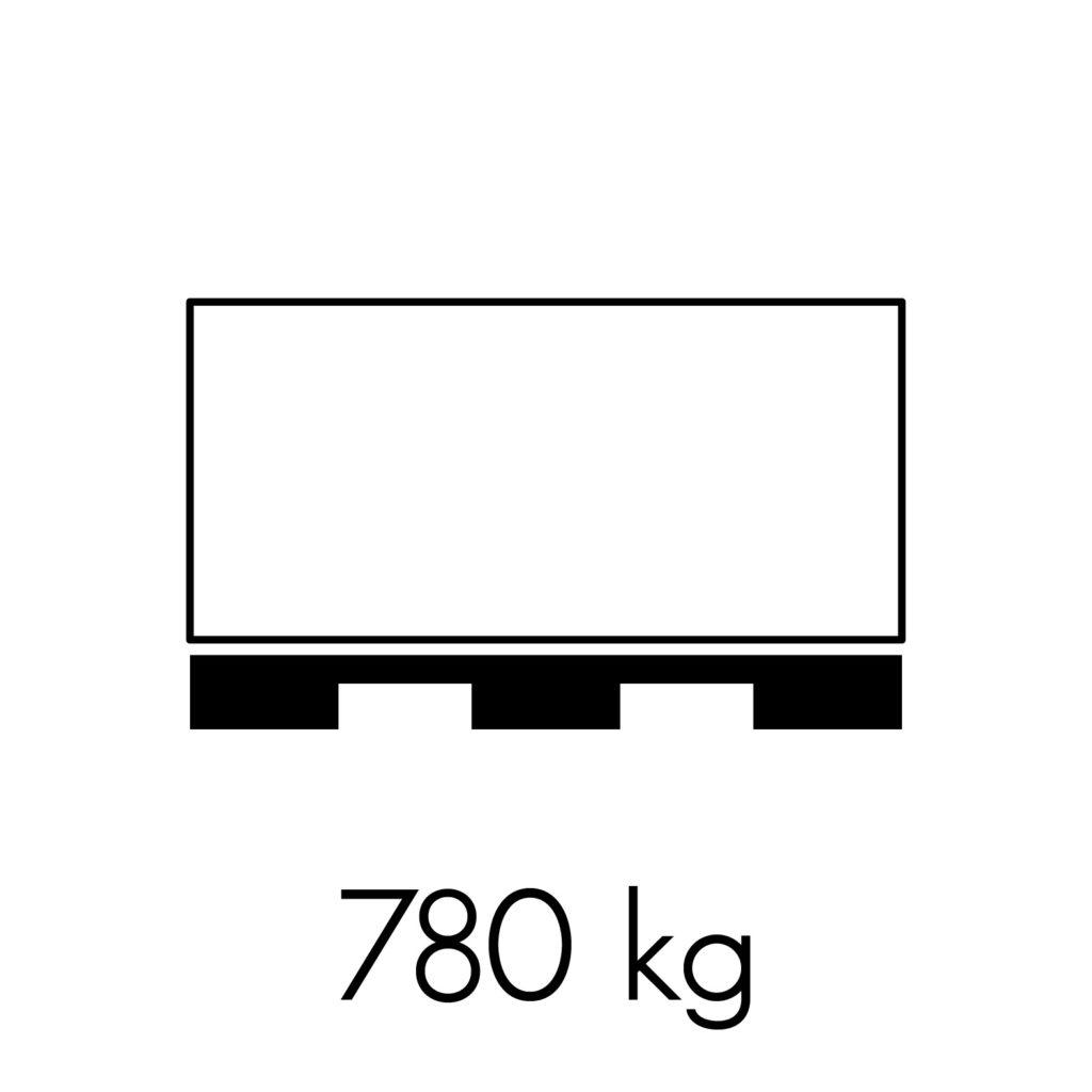 780 kg